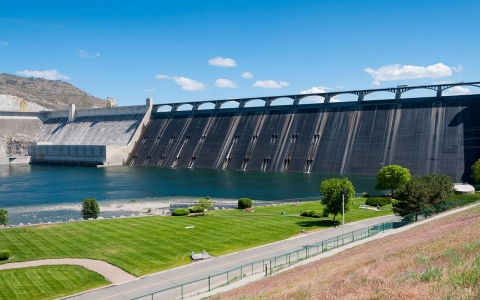 Grand Coulee Dam on the Columbia River, Washington, 2012