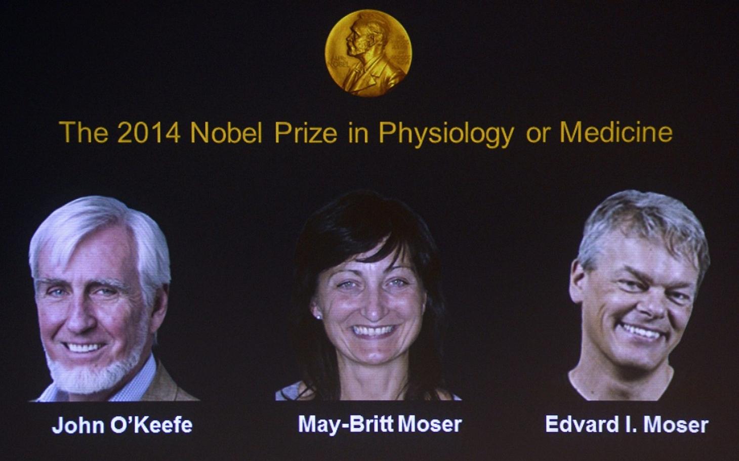 Nobel Prize in medicine awarded for discovery of brain's