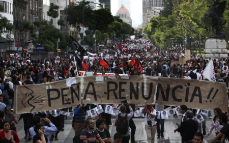 Thousands in Mexico demand action over missing students
