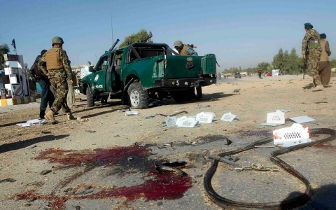 Thumbnail image for Bomb blasts in Afghanistan kill at least 10 policemen