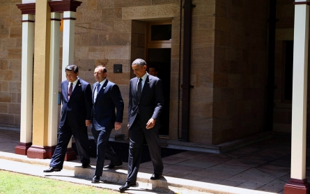 Obama pushes Asia security, climate action at G-20 summit in Brisbane