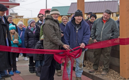 Tiny house village built by and for the homeless opens in Wisconsin