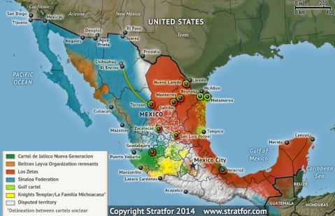 Drug cartels map