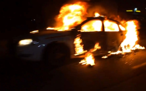 Thumbnail image for AJ+ Video: Police cars set ablaze