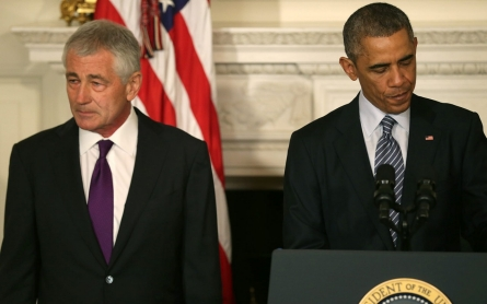 Chuck Hagel steps down as defense secretary after months of pressure