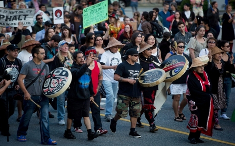 Thumbnail image for Canada's indigenous: 'We are the wall' that the pipeline cannot pass