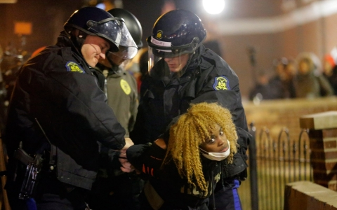 Thumbnail image for A quieter fury in Ferguson during second night of protests
