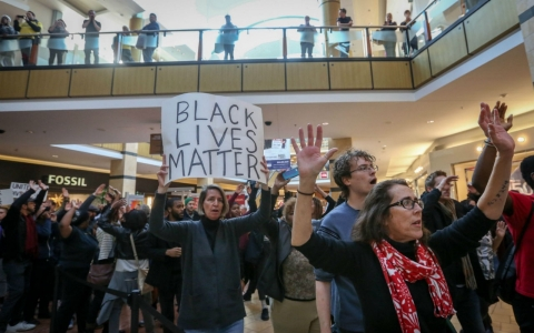 Thumbnail image for After Ferguson, protests across country disrupt business as usual