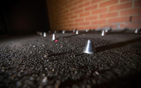 Thumbnail image for London activists work to cover 'anti-homeless' spikes
