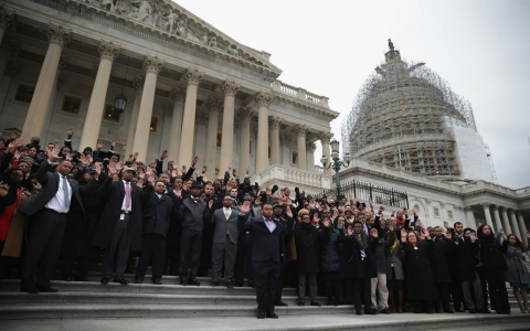 Thumbnail image for Black congressional staffers stage walkout over police killings