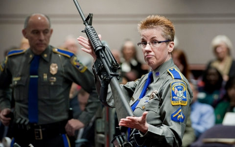 Thumbnail image for Sandy Hook parents, teacher sue gunmaker over 2012 attack