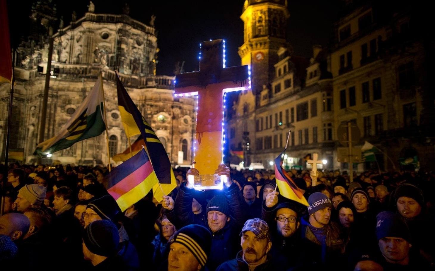 PEGIDA in Dresden: New German anti-immigrant movement ...  PEGIDA in Dresd...