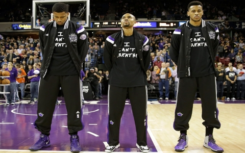 Thumbnail image for High school basketballers out of tournament for 'I can't breathe' T-shirts