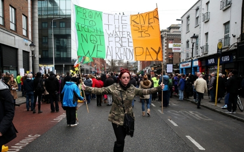 Thumbnail image for Fed up with austerity, Irish mobilize against water charges
