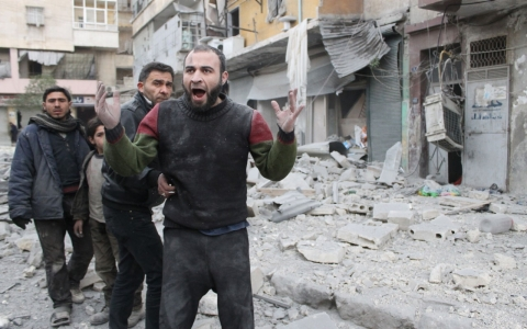 Thumbnail image for Activists: Syrian forces kill 83 people in barrel bomb attacks