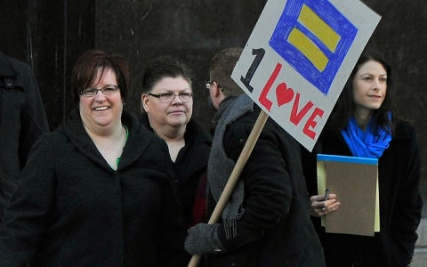 Parade of witnesses begins in Detroit gay marriage trial