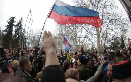 Ukrainians in the south and east oppose pro-Western leadership