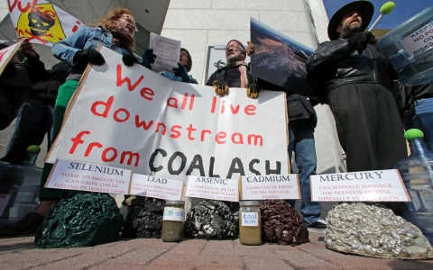 Thumbnail image for Coal ash spill continues; Duke Energy promises clean up
