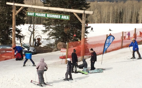 Skiers at the Arizona Snowbowl resort don't seem to mind the fake snow, generated from reclaimed sewage.