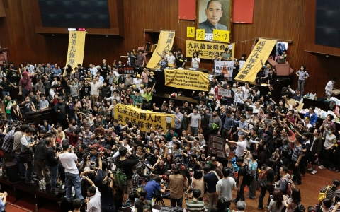 Thumbnail image for Taiwan students occupy Legislature to protest China trade deal