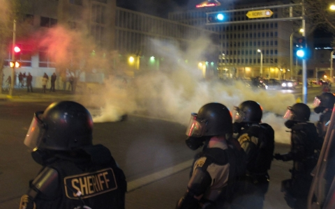 Thumbnail image for Protest against Albuquerque police turns into 'mayhem'