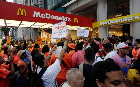 Thumbnail image for McDonald's feels heat over low wages