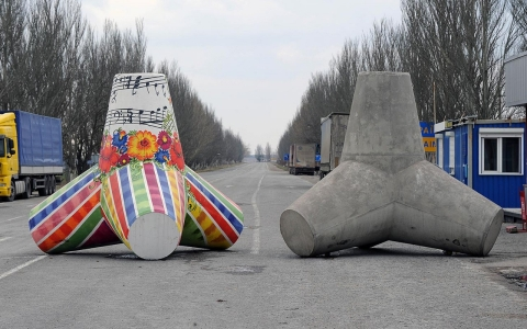 anti-tank, border, Russia, Ukraine