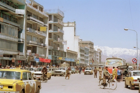 A street in Kabul, Afghanistan, May 1989.