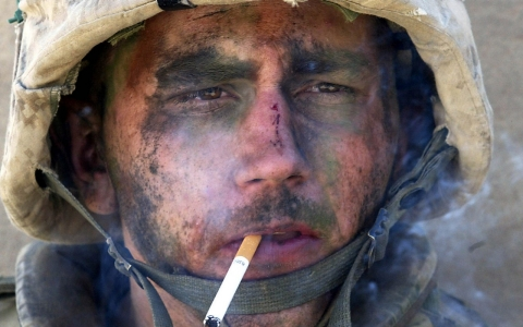 tobacco cessation, military, soldiers, World War II