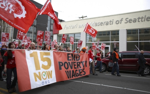 Thumbnail image for Seattle marks May Day with $15 minimum wage hike
