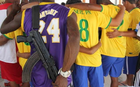 Thumbnail image for Shooting goals and AK-47s: The other soccer cup in Rio's favelas