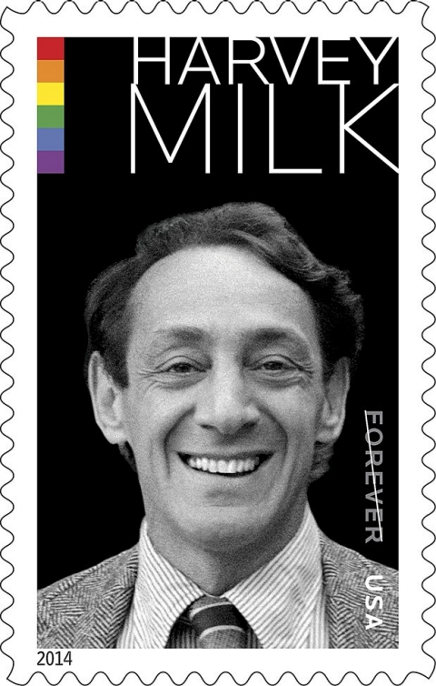 Harvey Milk, LGBT, postal stamps