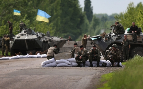 Thumbnail image for Ukraine says rebel bases destroyed in east