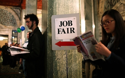 Thumbnail image for U.S. job growth surges in April, but many have stopped looking for work