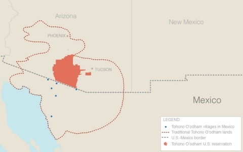 Indian Country, Mexico, borders, Tohono O'odham