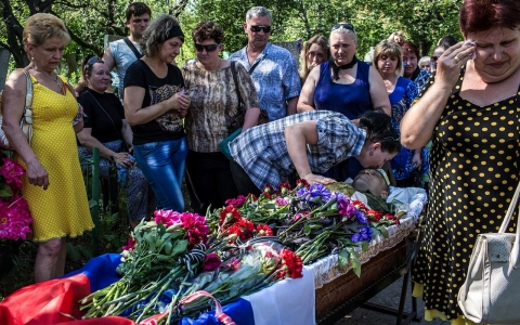 Thumbnail image for 'Point of no return': Resolve builds among Ukraine rebels with each death