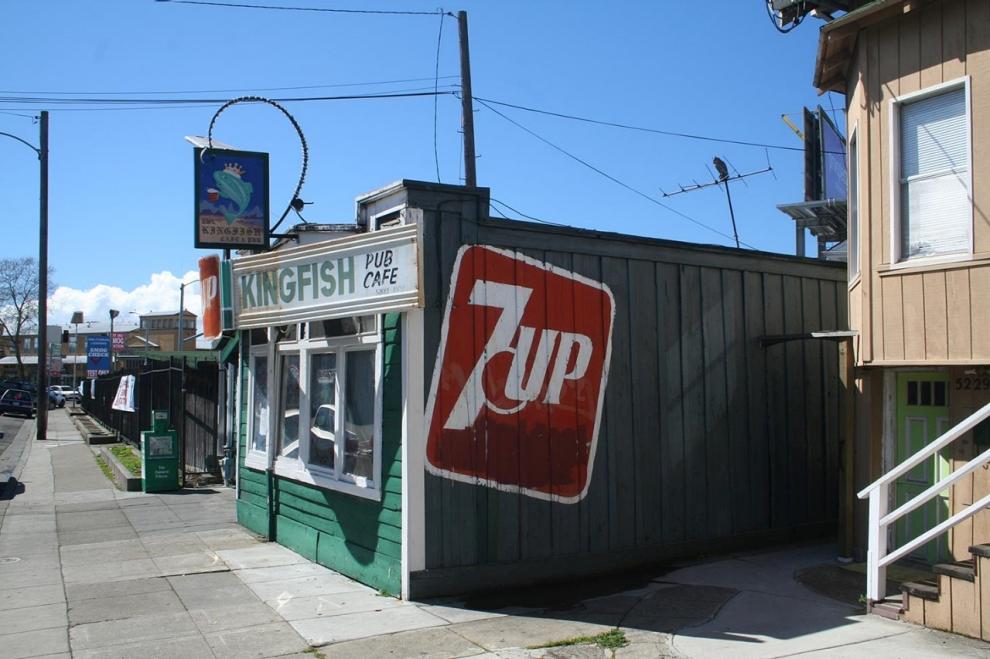 The Kingfish Café and Pub in Temescal, an Oakland, California, neighborhood.