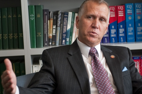 Thom Tillis, a proponent of the new law, leads the pack of Republicans competing to challenge Democratic Sen. Kay Hagan this fall
