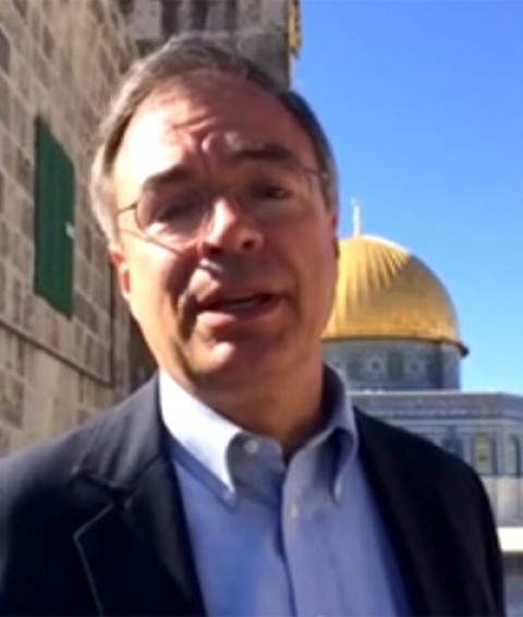 Rep. Andy Harris during his visit to the Temple Mount.