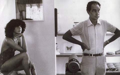 Giovanna Calvino with her father, Italo