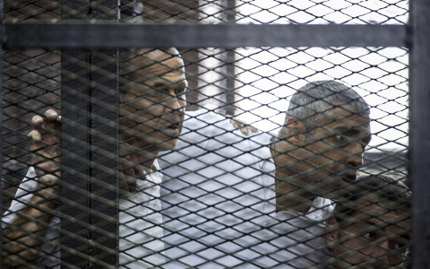 Peter Greste, Mohamed Fahmy and Baher Mohamed were sentenced to between seven and 10 years in prison