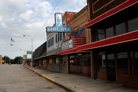 The Liberty Theatre in Carnegie, Okla.