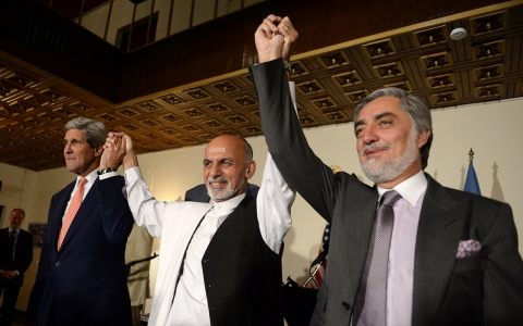 Thumbnail image for  Afghan presidential rivals agree to recount of 'every single ballot'