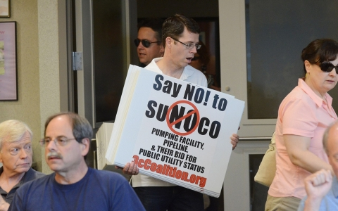 The Chester County Community Coalition met Thursday night, June 26, 2014 at the West Goshen Township Building as part of an informational meeting in reference to the planned Sunoco pipeline and pumping station on Boot Road.