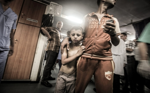Thumbnail image for Gaza bombardment further traumatizes children suffering from PTSD