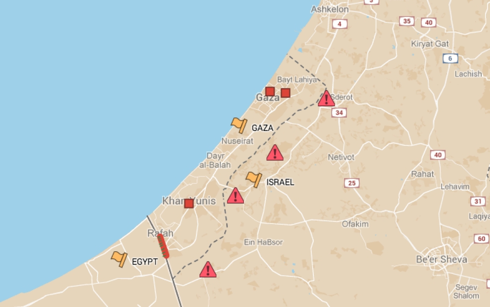 Tunnel Located Locations of Hamas Tunnel