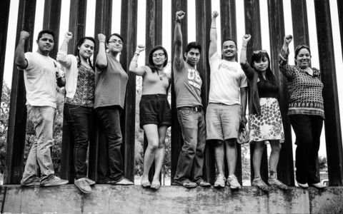 Thumbnail image for Undocumented immigrants stage civil disobedience protest at border