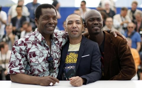 Ivorian actor Isaac De Bankole, director Philippe Lacote and actor Abdoul Karim Konate