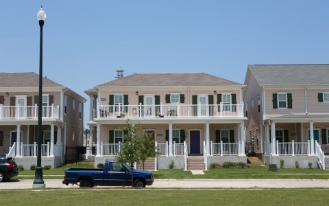 The new mixed income housing development at Marrero Commons, which is the redevelopment of B.W. Cooper.