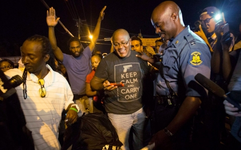 Thumbnail image for 'It was a productive night': Police in Ferguson try new tactics